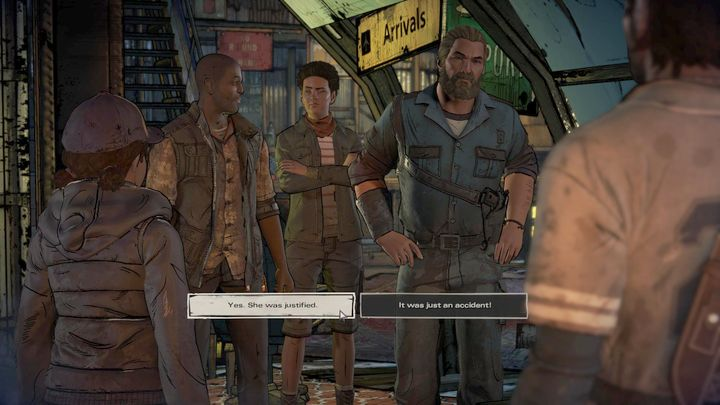 The third important choice takes place in Prescott - Important choices | Episode 1 - Episode 1: Ties that Bind - Part 1 - The Walking Dead: The Telltale Series - A New Frontier Game Guide