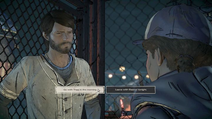 The fourth important choice is also Prescott-related and takes place after Clem shoots the arms dealer - Important choices | Episode 1 - Episode 1: Ties that Bind - Part 1 - The Walking Dead: The Telltale Series - A New Frontier Game Guide