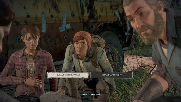 The next important choice ends the first episode - Important choices | Episode 1 - Episode 1: Ties that Bind - Part 1 - The Walking Dead: The Telltale Series - A New Frontier Game Guide