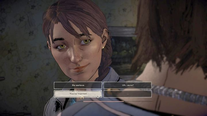 The first chapter will begin with a short flashback, depicting one of the many quarrel Javier had with his brother - Chapter 1 - Bloody Business | Episode 2 - Episode 2: Ties that Bind - Part 2 - The Walking Dead: The Telltale Series - A New Frontier Game Guide
