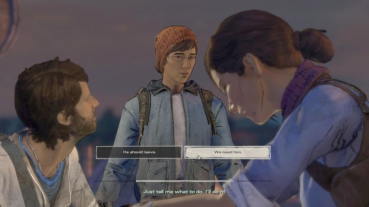 Having talked to Eleanor, you will have to find Gabe - Chapter 2 - Enemy at the Gates | Episode 2 - Episode 2: Ties that Bind - Part 2 - The Walking Dead: The Telltale Series - A New Frontier Game Guide