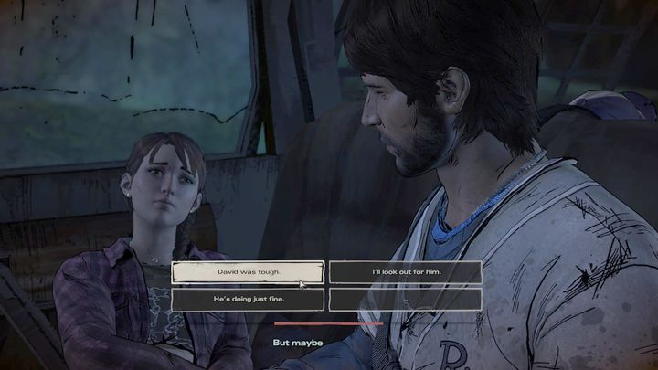 The chapter will begin with your escape from the destroyed Prescott - Chapter 3 - On the Road Again   Episode 2 - Episode 2: Ties that Bind - Part 2 - The Walking Dead: The Telltale Series - A New Frontier Game Guide