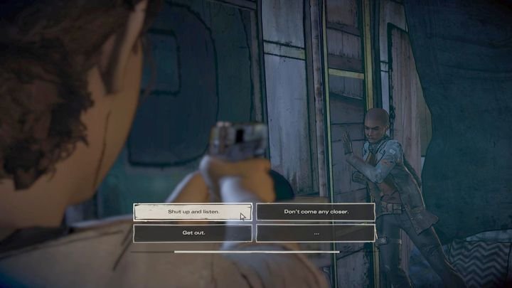 The chapter will begin with a short flashback - Chapter 5 - Rough Justice | Episode 2 - Episode 2: Ties that Bind - Part 2 - The Walking Dead: The Telltale Series - A New Frontier Game Guide