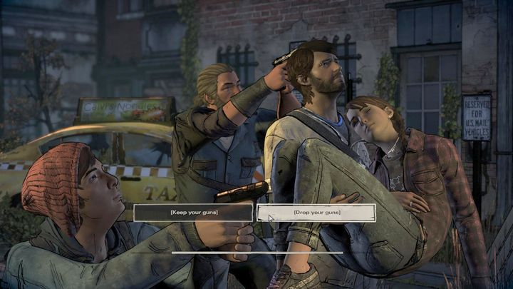 This is the last important choice in this episode - Chapter 6 - In the City | Episode 2 - Episode 2: Ties that Bind - Part 2 - The Walking Dead: The Telltale Series - A New Frontier Game Guide
