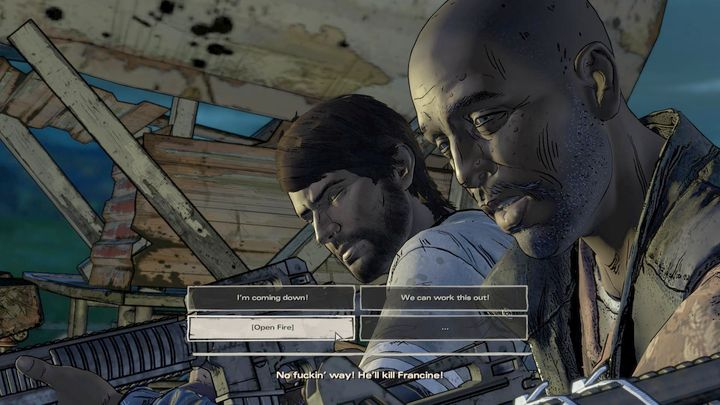 Your second important choice is at the beginning of the second chapter - Important choices | Episode 2 - Episode 2: Ties that Bind - Part 2 - The Walking Dead: The Telltale Series - A New Frontier Game Guide