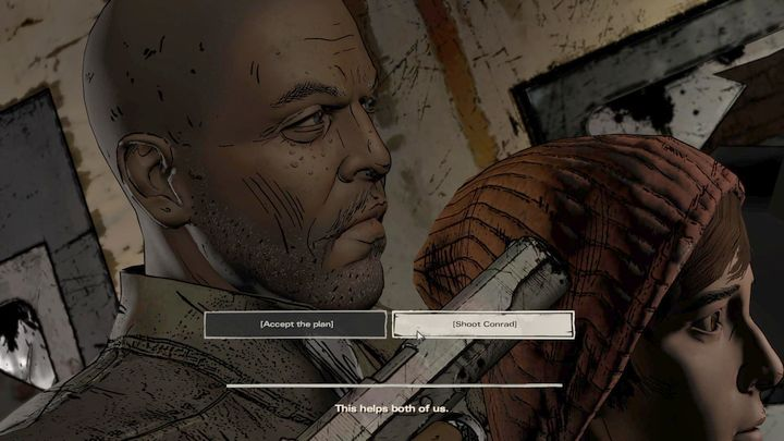 The fourth, and the most important choice of this episode takes place in the fifth chapter - Important choices | Episode 2 - Episode 2: Ties that Bind - Part 2 - The Walking Dead: The Telltale Series - A New Frontier Game Guide