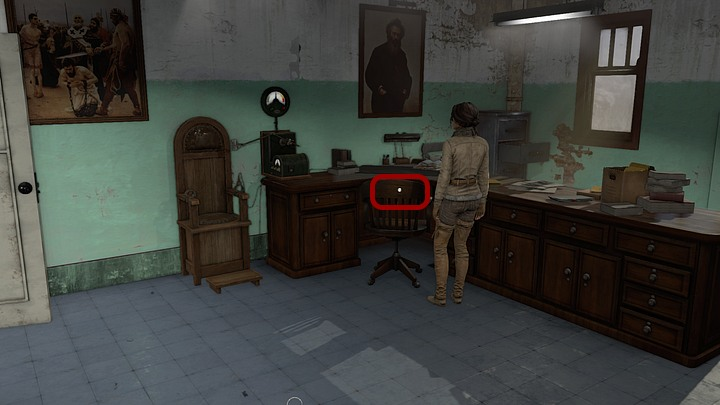 Exit the zoom and go to the Doctors office - Match the key to the lock | Chapter one | Walkthrough - Chapter one - Syberia 3 Game Guide