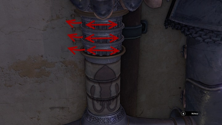 Begin by unlocking three rims found on top of the hilt - Find Dr. Olga | Chapter one | Walkthrough - Chapter one - Syberia 3 Game Guide