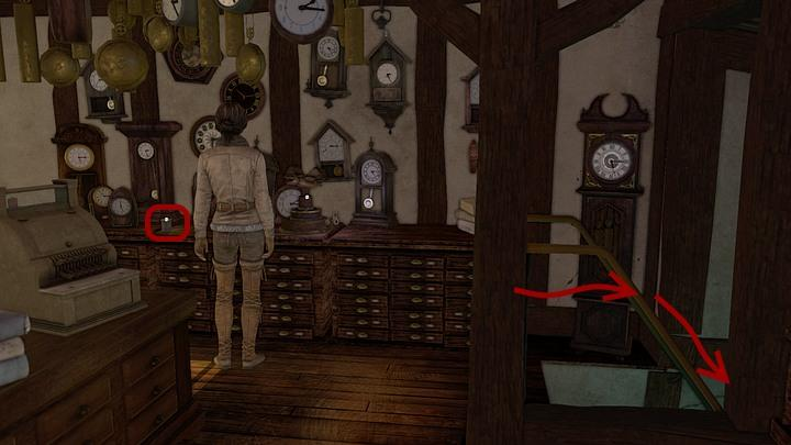 Begin the search for the medication by taking a look around the workshop - Steiners medicine | Chapter three | Walkthrough - Chapter three - Syberia 3 Game Guide