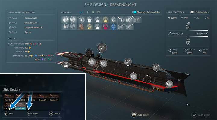 In the game you can find a rather simple ship editor - Modules and ship designs in Endless Space 2 - Fleet and Army - Endless Space 2 Game Guide
