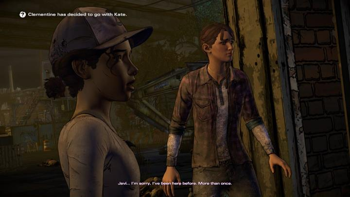 The fourth choice is a summary of your previous actions, and involves Clementine your standing with her - Important choices | Episode 5 - Episode 5: From the Gallows - The Walking Dead: The Telltale Series - A New Frontier Game Guide