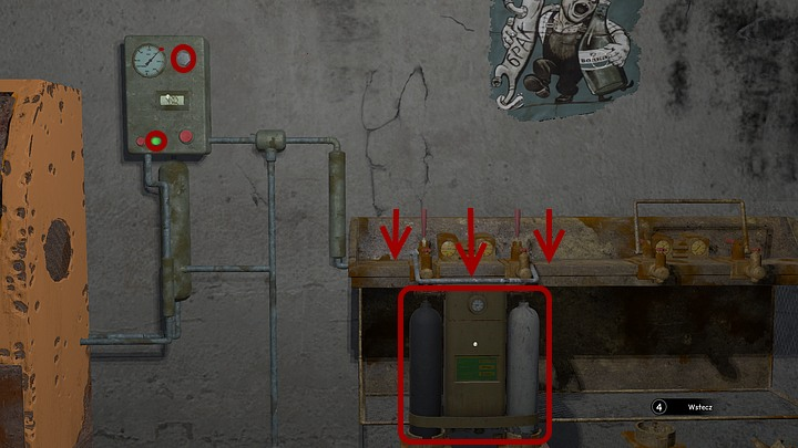 Now take a look at the metal box, that is hanging on the left - Assemble and prepare the diving gear | Chapter three | Walkthrough - Chapter three - Syberia 3 Game Guide