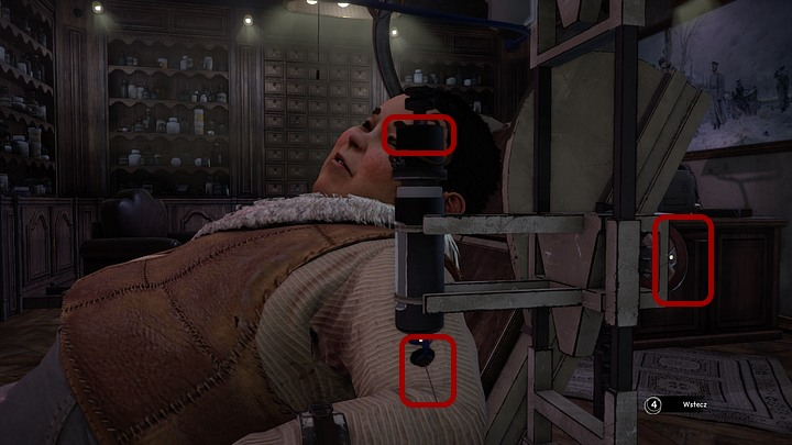 Zoom in on the instruments youll see on that side of the seat and displace the needle to the right (mouse movement), to cause the fluid to leak from the syringe - Find and free Kurk | Chapter three | Walkthrough - Chapter three - Syberia 3 Game Guide
