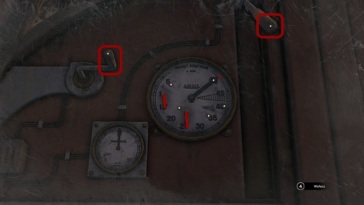 Use your mouse on the knob on the left to turn it counter-clockwise to move the needle on the larger gauge to its maximum position - number 50 - Find the activation key | Chapter five | Walkthrough - Chapter five - Syberia 3 Game Guide