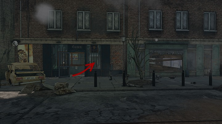 Go past the building with the partially boarded windows and enter the next one through the open door - Open the conduits | Chapter six | Walkthrough - Chapter six - Syberia 3 Game Guide