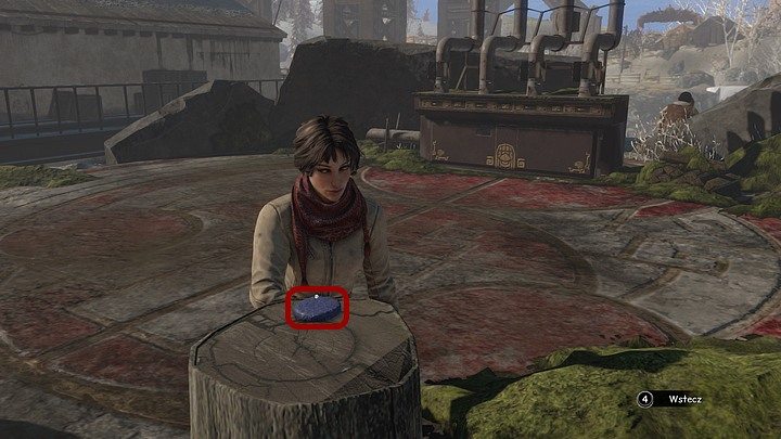 Now approach the chopping block that stands opposite to the furnace - Give the ghosts a signal (smoke) - Chapter eight - Syberia 3 Game Guide