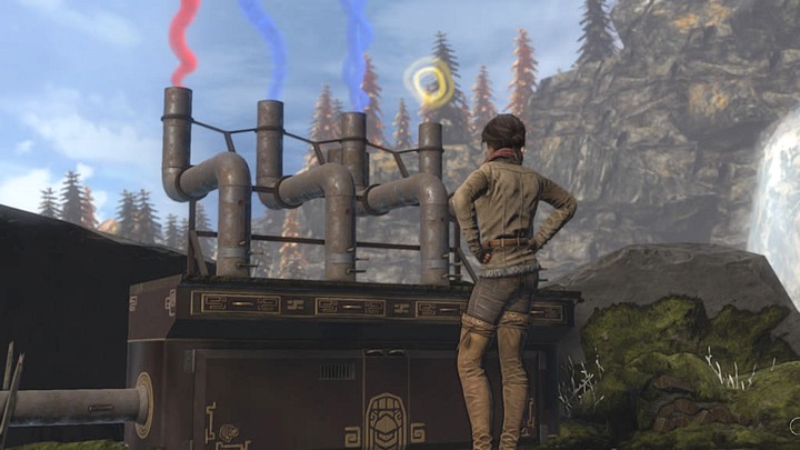 The right color and shape of the smoke. - Give the ghosts a signal (smoke) - Chapter eight - Syberia 3 Game Guide