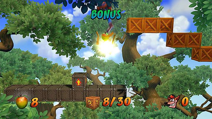 Not far from there, you will find a portal that will take you to a bonus round, and if you collected all Tawnas tokens, you can use it - Up the Creek | Wumpa Island | Levels - Crash Bandicoot - Wumpa Island - Crash Bandicoot N. Sane Trilogy Game Guide