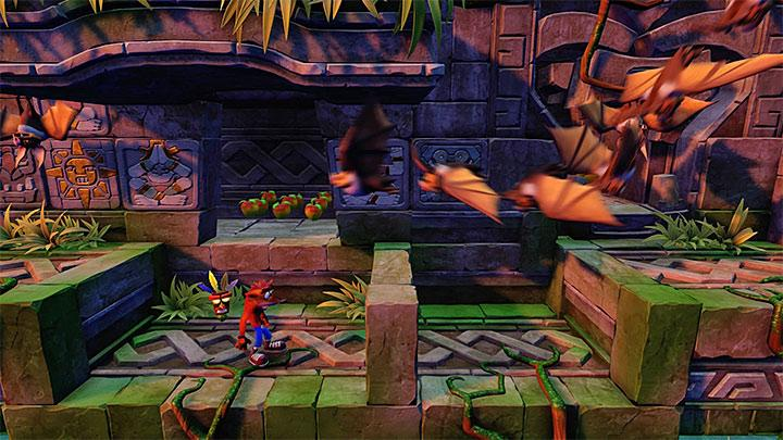 You will come across bats for the first time in another part of the Lost City - The Lost City | Wumpa Island | Levels - Crash Bandicoot - Wumpa Island - Crash Bandicoot N. Sane Trilogy Game Guide