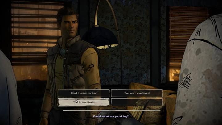 David disarms the woman and shoots the rising zombie - Chapter 2 - Promises and Lies | Episode 5 - Episode 5: From the Gallows - The Walking Dead: The Telltale Series - A New Frontier Game Guide