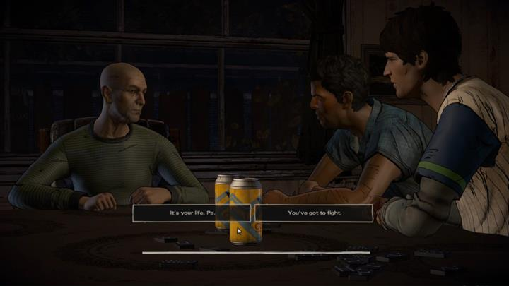 You are left with a choice: you can plead with your father to continue fighting the disease, or tell him that it is his life and he can do what he wants - Chapter 1 - Sole Survivors | Episode 5 - Episode 5: From the Gallows - The Walking Dead: The Telltale Series - A New Frontier Game Guide