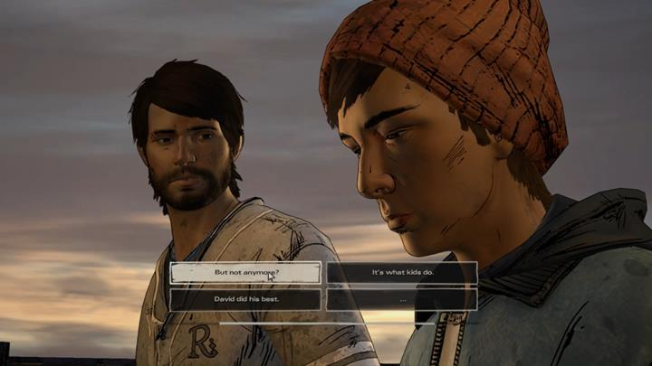 The group made its way through the rooftops back to the area where youve found the truck - Chapter 3 - Family Values | Episode 5 - Episode 5: From the Gallows - The Walking Dead: The Telltale Series - A New Frontier Game Guide