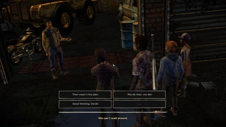 Sadly, David decides it is time to hit the road and leave Richmond - Chapter 3 - Family Values | Episode 5 - Episode 5: From the Gallows - The Walking Dead: The Telltale Series - A New Frontier Game Guide