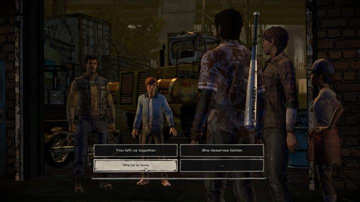 If youve professed your feelings to Kate, David will confront you, leading to an argument and another major choice found in this episode - Chapter 3 - Family Values | Episode 5 - Episode 5: From the Gallows - The Walking Dead: The Telltale Series - A New Frontier Game Guide
