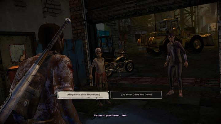 The cards are on the table - you need to decide whether you want to join Kate, or follow David and Gabe - Chapter 3 - Family Values | Episode 5 - Episode 5: From the Gallows - The Walking Dead: The Telltale Series - A New Frontier Game Guide