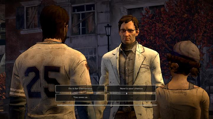 Opcja dialogowa - Chapter 5 - Second Chances   Episode 5 - Episode 5: From the Gallows - The Walking Dead: The Telltale Series - A New Frontier Game Guide