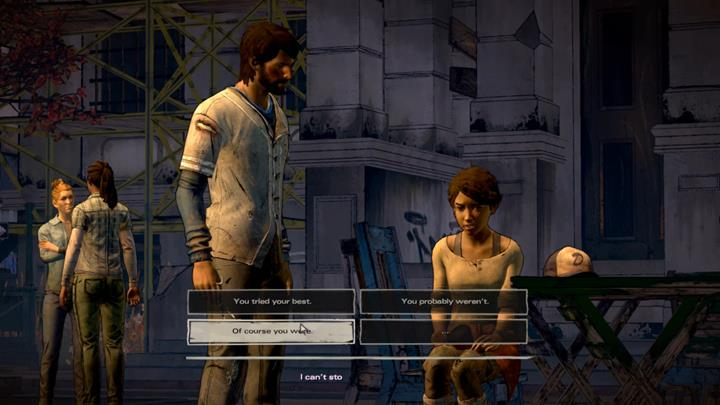 Javi is helping Clementine in getting her hair cut - Chapter 6 - The Dawn Breaks | Episode 5 - Episode 5: From the Gallows - The Walking Dead: The Telltale Series - A New Frontier Game Guide