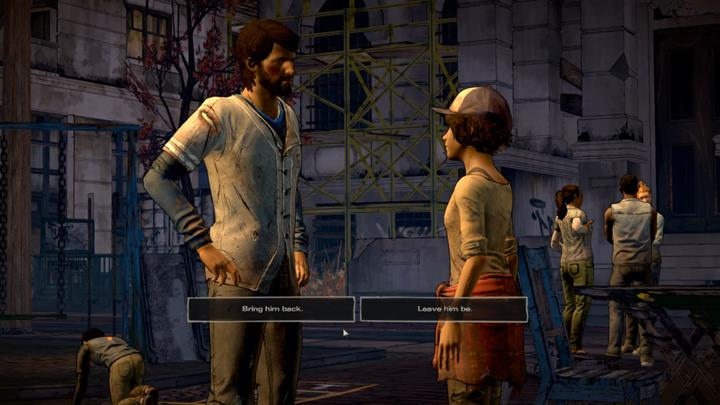 Finally, Clementine will ask for your definite input on how to handle AJ - Chapter 6 - The Dawn Breaks | Episode 5 - Episode 5: From the Gallows - The Walking Dead: The Telltale Series - A New Frontier Game Guide