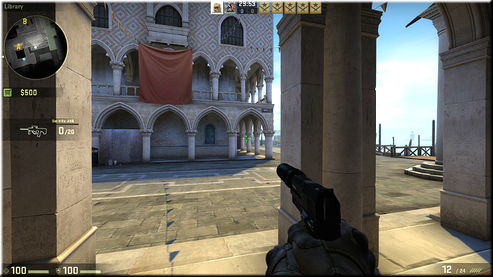 The pillars provide good cover and additionally, you can shoot between them to the opponents that may appear up in the distance - Mission 9 - Canals - Blood in the Water - Missions - Counter-Strike: Global Offensive Game Guide