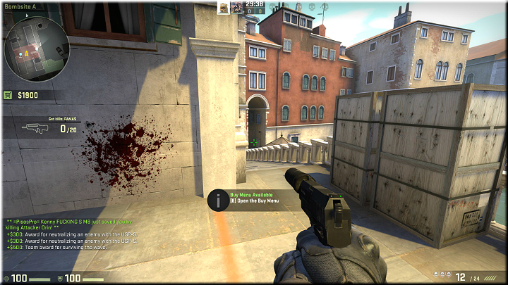 Opponents may appear in the tunnel up in the distance and either climb up the stairs, or go left, towards the next passage - Mission 10 - Rialto - Bridging the gap - Missions - Counter-Strike: Global Offensive Game Guide