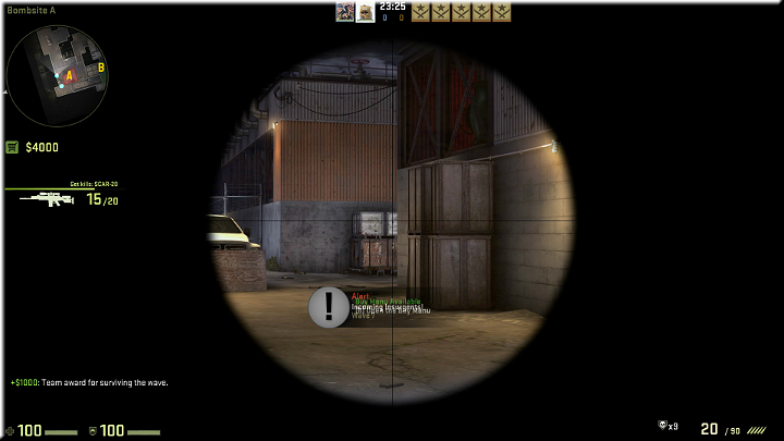 The abovementioned passage that you can cover by jumping onto the crates, or by standing right next to them - Mission 13 - Lite - Phoenix Rising - Missions - Counter-Strike: Global Offensive Game Guide