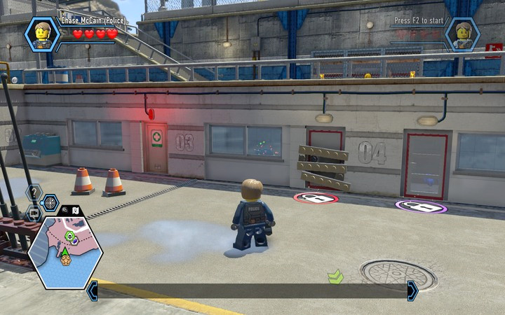 Not all locations are available from the beginning - a padlock will appear by some activities. They will be available after the completion of future story missions. - General advice | Tips - Tips - LEGO City: Undercover Game Guide
