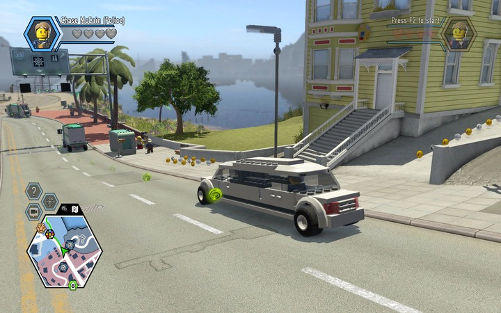Limos and taxis will take you to your destination, while you can go and have a cup of tea - Transport - Tips - LEGO City: Undercover Game Guide