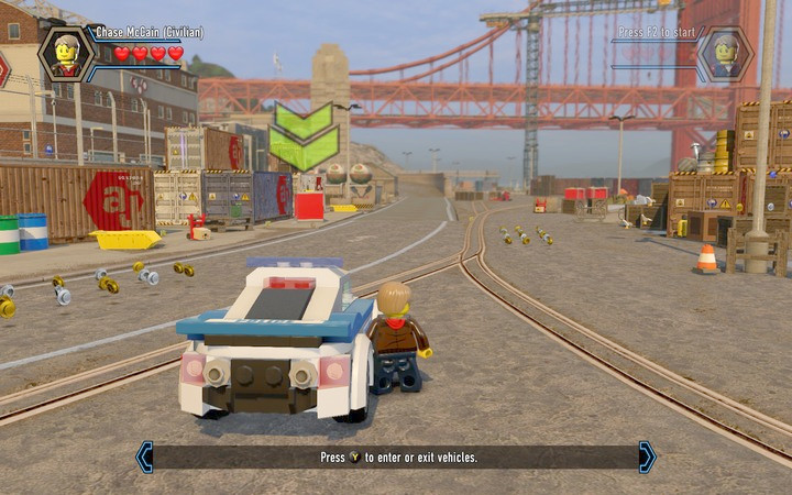 Enter the vehicle and follow the markers - Exploring the station | Chapter 1 - Chapter 1 - LEGO City: Undercover Game Guide