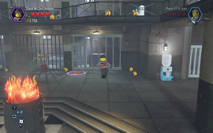 You can now use a crowbar to pry open some of the doors and bars - The prison cells | Chapter 3 - Chapter 3 - LEGO City: Undercover Game Guide