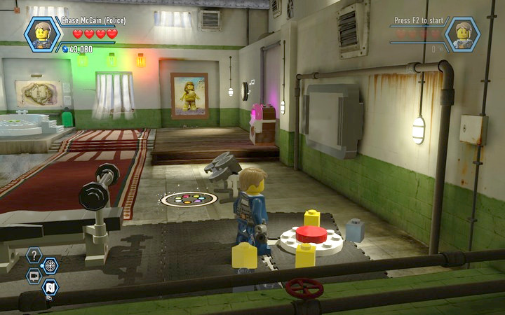 The third button is under the punching bag - The prison cells | Chapter 3 - Chapter 3 - LEGO City: Undercover Game Guide