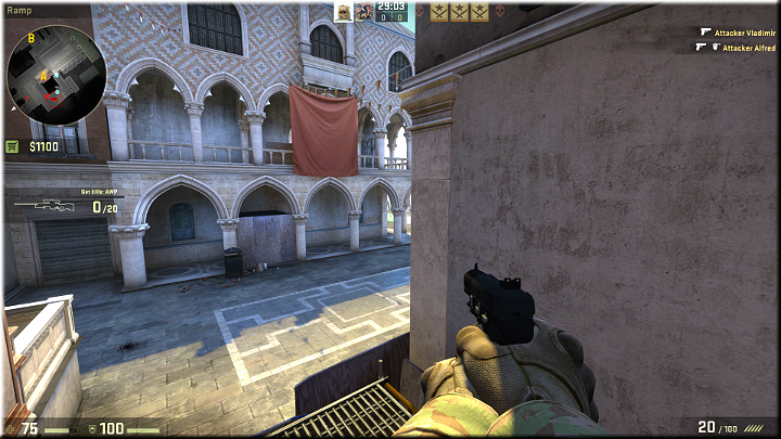 The wall on the right provides excellent cover - Mission 14 - Canals - Lead in the Water - Missions - Counter-Strike: Global Offensive Game Guide