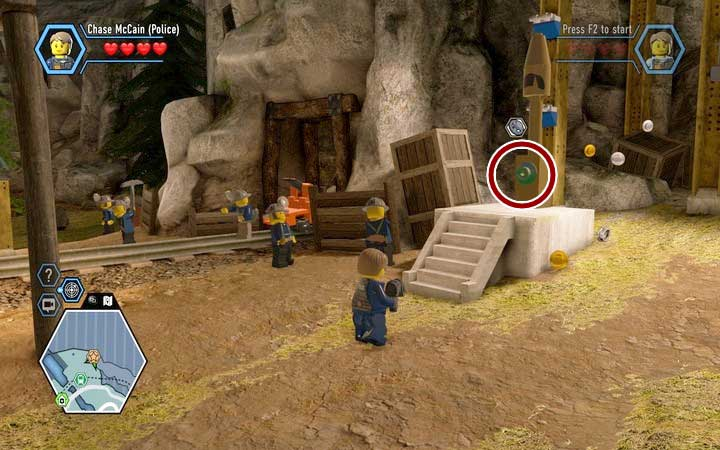 Find the valve, which you can use to activate the whistle, that indicates a break in the labour - The Bluebell Mine | Chapter 3 - Chapter 3 - LEGO City: Undercover Game Guide