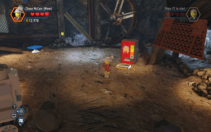 After using the switch you will receive blocks, from which you can build a TNT Dispenser - The Bluebell Mine | Chapter 3 - Chapter 3 - LEGO City: Undercover Game Guide