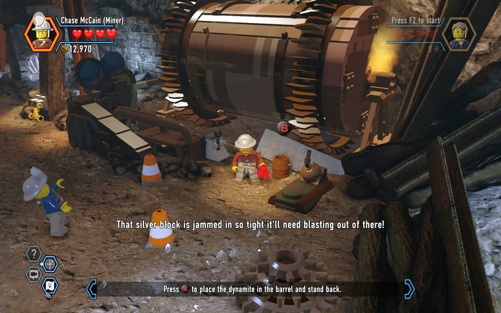 TNT is used to blow up silver blocks - The Bluebell Mine | Chapter 3 - Chapter 3 - LEGO City: Undercover Game Guide