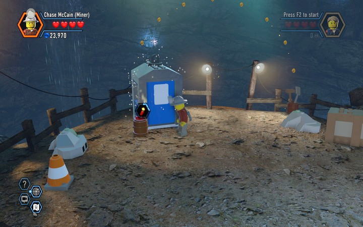 The toilet has also been built from silver blocks � use the TNT - The Bluebell Mine | Chapter 3 - Chapter 3 - LEGO City: Undercover Game Guide