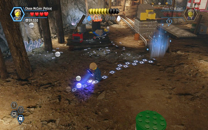 Follow the trail, the starting place is located under the rocks - The Bluebell Mine | Chapter 3 - Chapter 3 - LEGO City: Undercover Game Guide