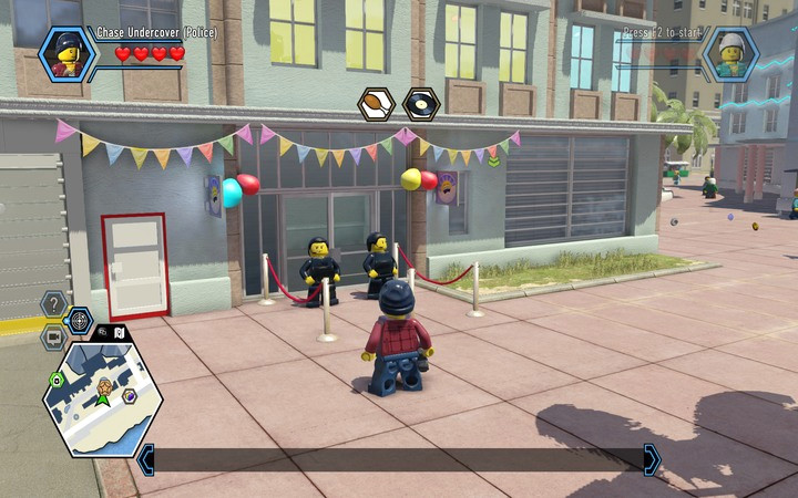 You need to dispose of the guards outside the hotel... - The Hotel | Chapter 5 - Chapter 5 - LEGO City: Undercover Game Guide