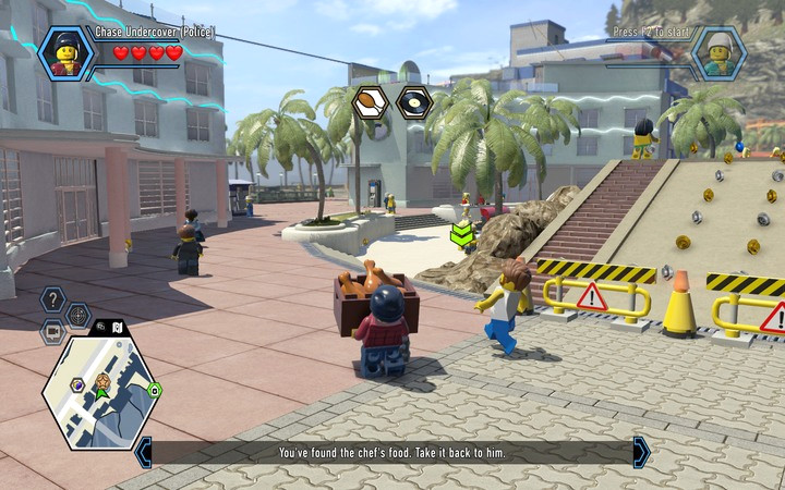 Bring the box with chicken to the grill, to start the party - The Hotel | Chapter 5 - Chapter 5 - LEGO City: Undercover Game Guide