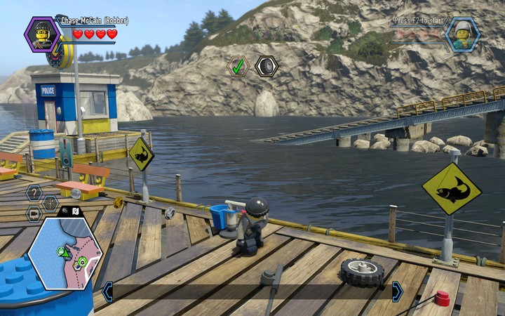 You will fish out the second wheel z zatoki - Free Moe de Luca | Chapter 6 - Chapter 6 - LEGO City: Undercover Game Guide