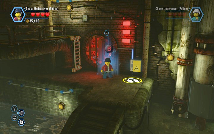 Find the TNT by following the traces shown by the scanner - Robbing the gem from the bank | Chapter 6 - Chapter 6 - LEGO City: Undercover Game Guide